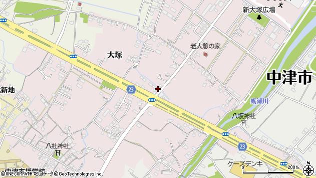 大分県中津市大塚353周辺の地図