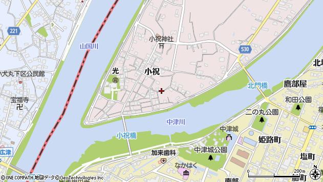 大分県中津市小祝327周辺の地図
