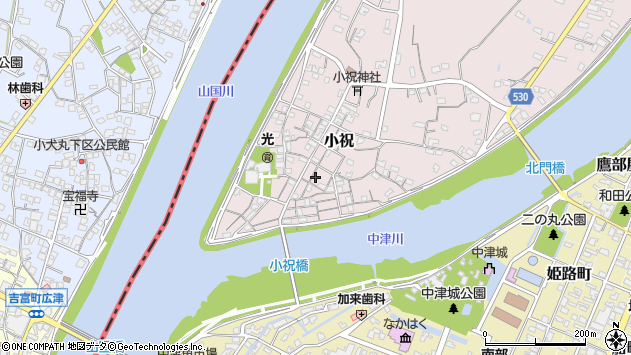 大分県中津市小祝176周辺の地図