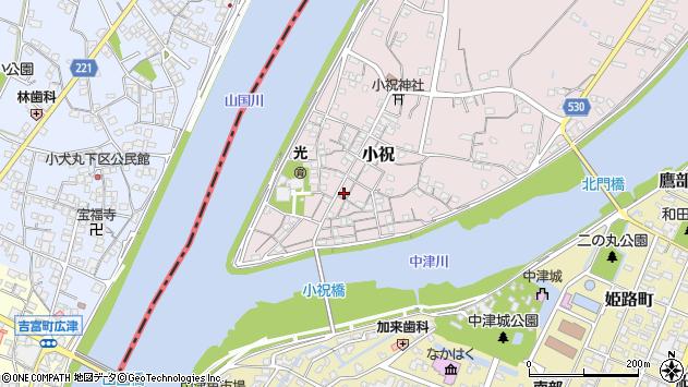 大分県中津市小祝175周辺の地図