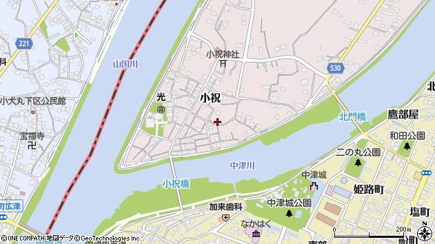 大分県中津市小祝326周辺の地図