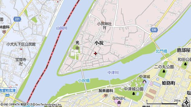 大分県中津市小祝161周辺の地図