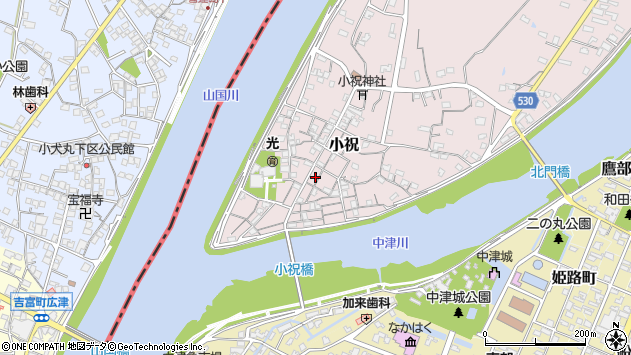 大分県中津市小祝177周辺の地図