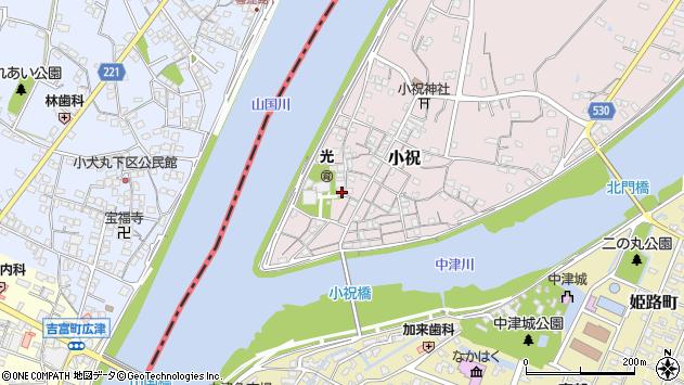 大分県中津市小祝213周辺の地図