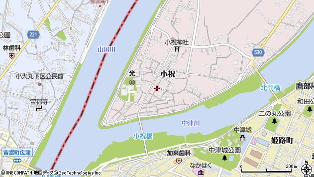大分県中津市小祝251周辺の地図