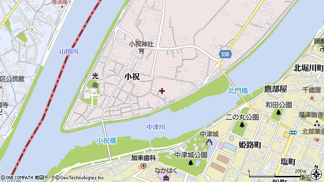 大分県中津市小祝329周辺の地図