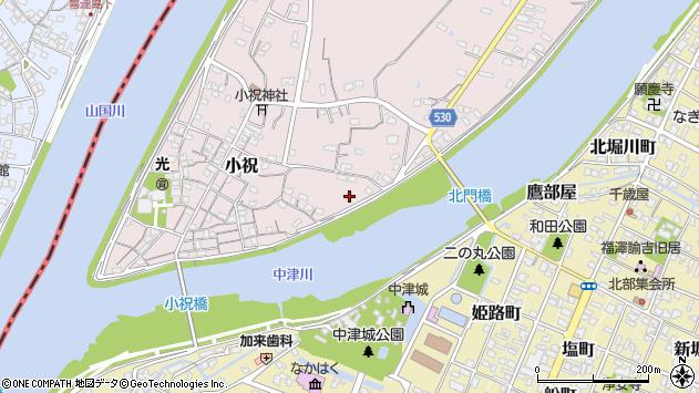 大分県中津市小祝345周辺の地図