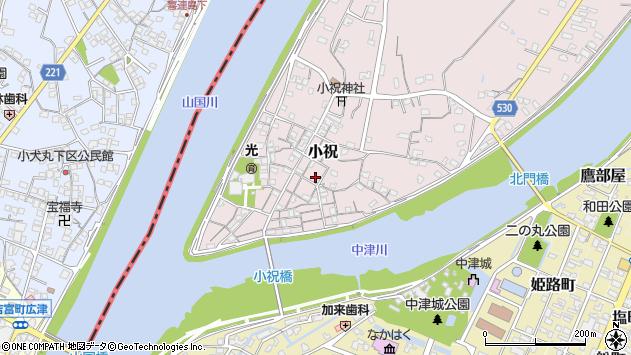 大分県中津市小祝321周辺の地図