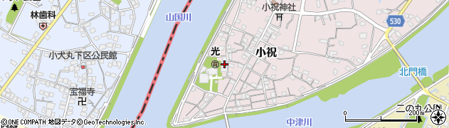 大分県中津市小祝211周辺の地図