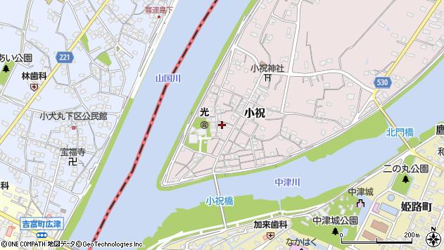 大分県中津市小祝217周辺の地図