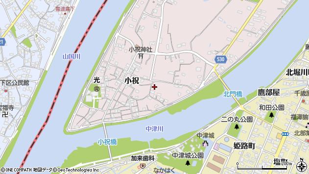 大分県中津市小祝331周辺の地図