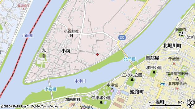 大分県中津市小祝350周辺の地図