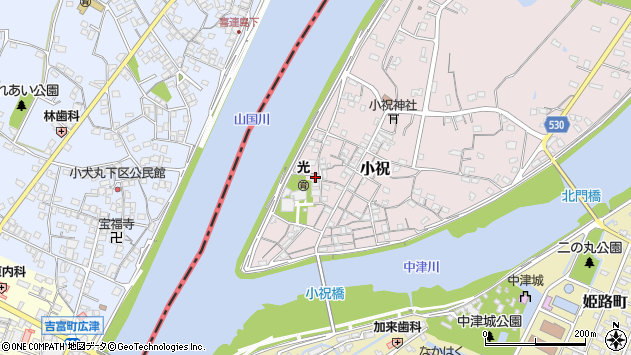 大分県中津市小祝210周辺の地図