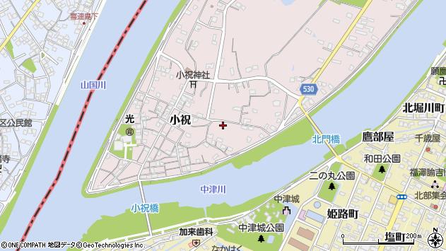 大分県中津市小祝333周辺の地図