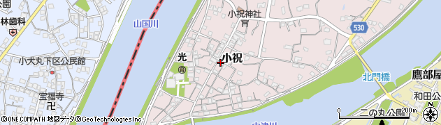 大分県中津市小祝310周辺の地図