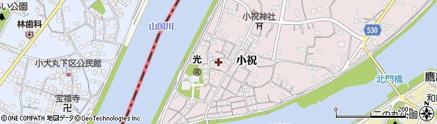 大分県中津市小祝222周辺の地図