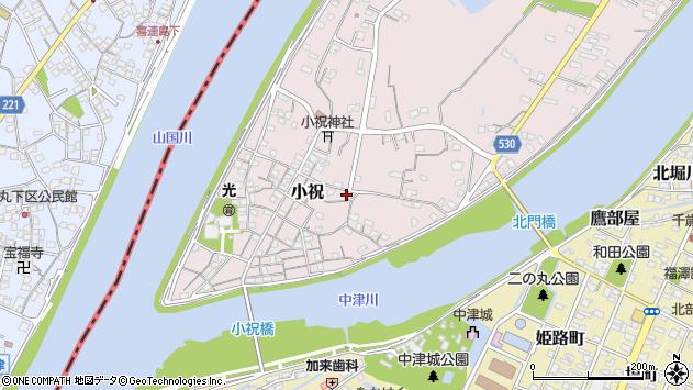 大分県中津市小祝495周辺の地図