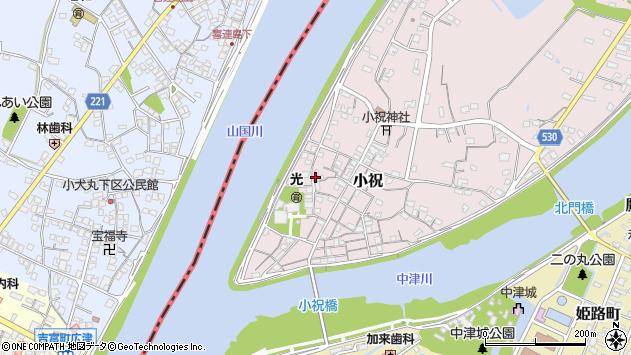 大分県中津市小祝247周辺の地図