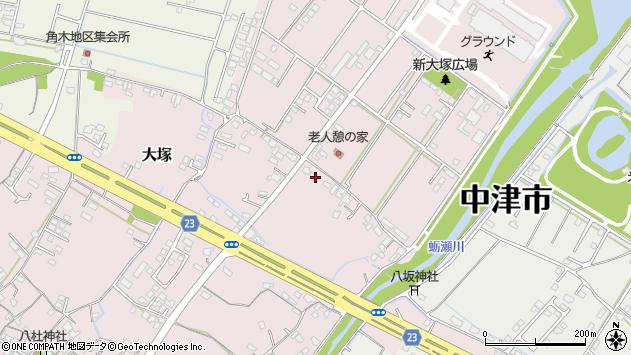 大分県中津市大塚607周辺の地図