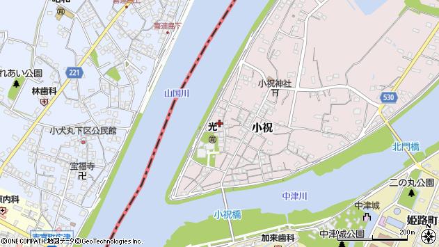 大分県中津市小祝257周辺の地図