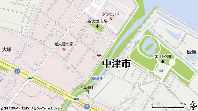 大分県中津市大塚662周辺の地図