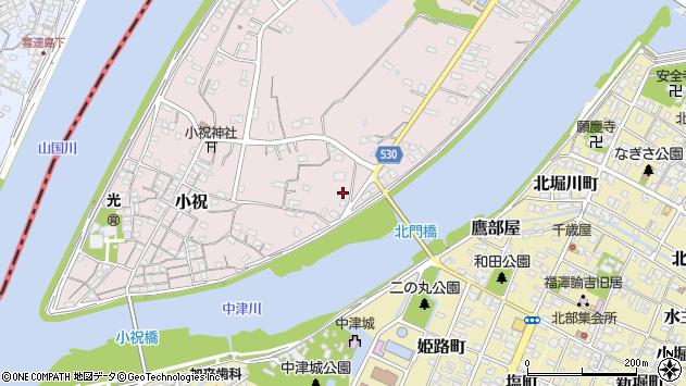 大分県中津市小祝362周辺の地図