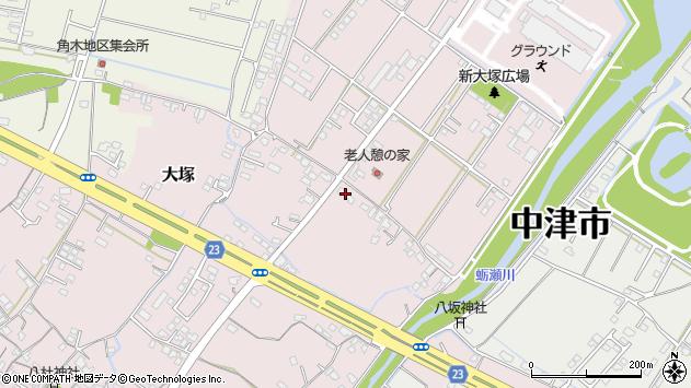 大分県中津市大塚608周辺の地図