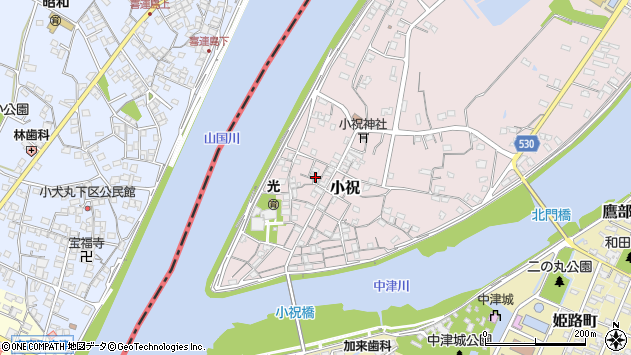 大分県中津市小祝100周辺の地図