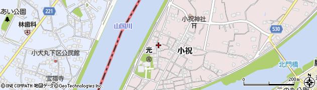 大分県中津市小祝248周辺の地図