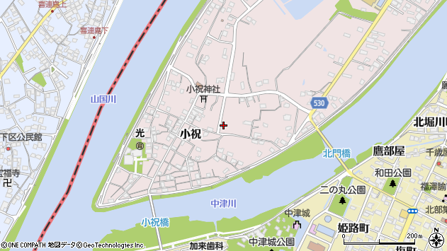 大分県中津市小祝496周辺の地図