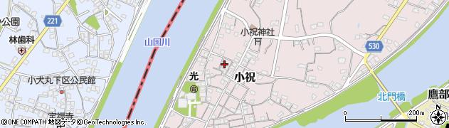 大分県中津市小祝238周辺の地図