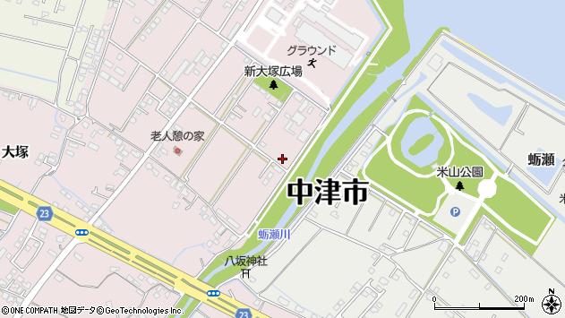 大分県中津市大塚667周辺の地図