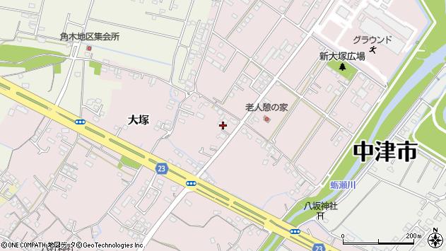大分県中津市大塚615周辺の地図