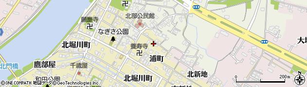 大分県中津市北浦町周辺の地図