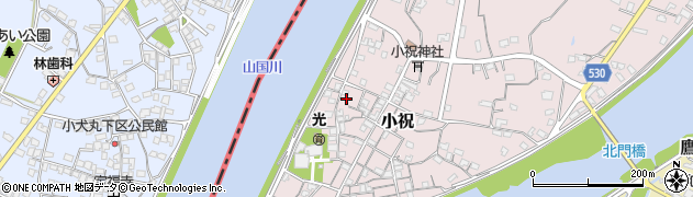 大分県中津市小祝250周辺の地図