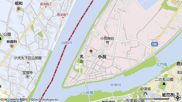 大分県中津市小祝242周辺の地図