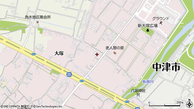 大分県中津市大塚614周辺の地図