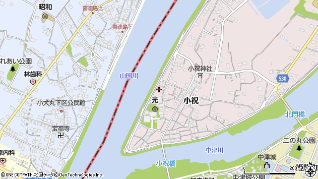 大分県中津市小祝253周辺の地図