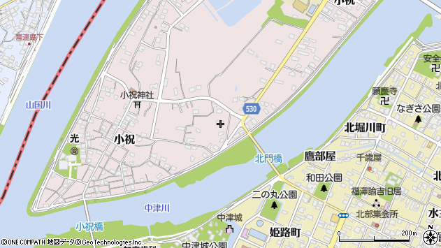 大分県中津市小祝367周辺の地図