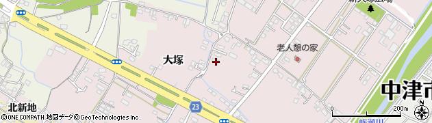 大分県中津市大塚340周辺の地図