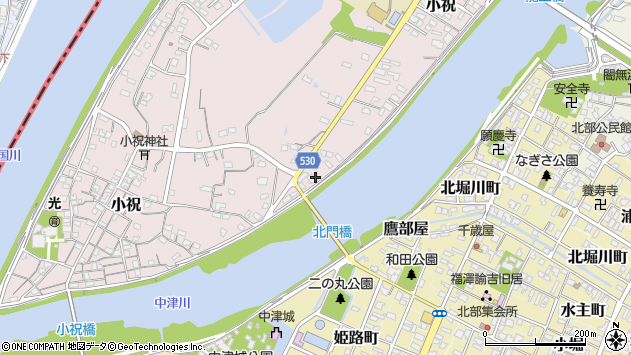 大分県中津市小祝374周辺の地図