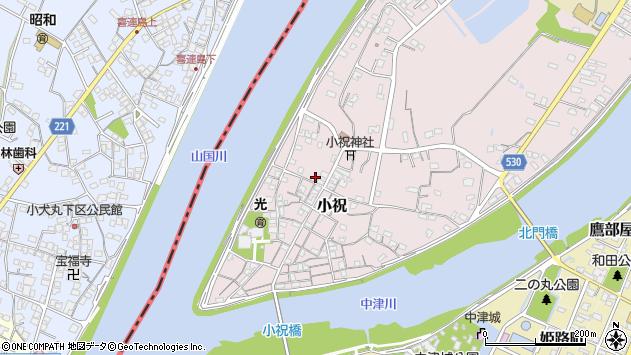 大分県中津市小祝299周辺の地図