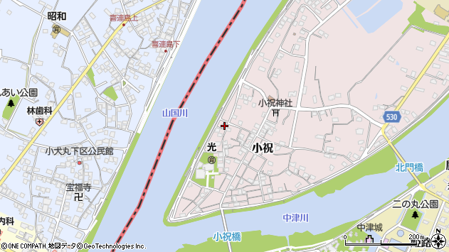 大分県中津市小祝279周辺の地図