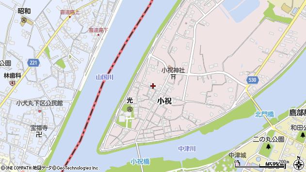 大分県中津市小祝294周辺の地図
