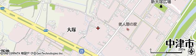 大分県中津市大塚343周辺の地図