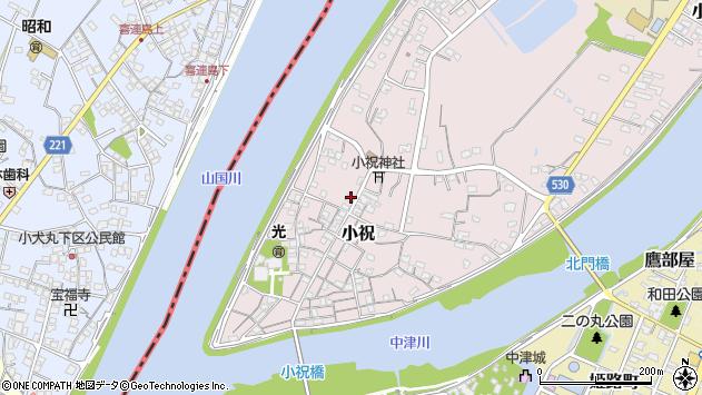 大分県中津市小祝302周辺の地図