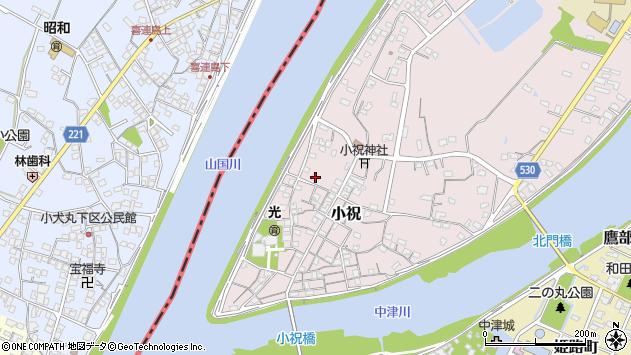 大分県中津市小祝287周辺の地図