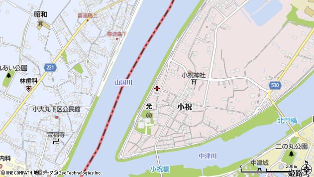 大分県中津市小祝264周辺の地図