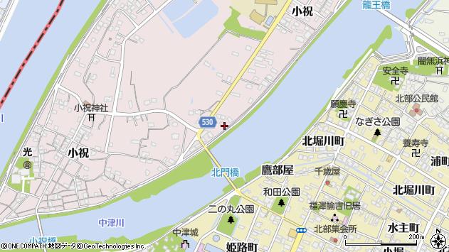 大分県中津市小祝376周辺の地図