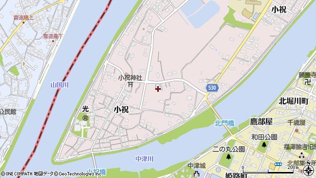 大分県中津市小祝479周辺の地図